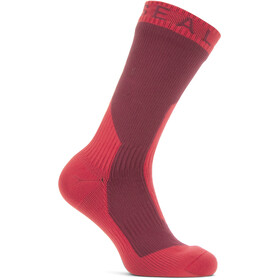 Sealskinz Waterproof Extreme Cold Weather Mid Socks red